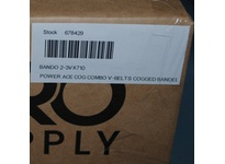 Bando 2-3VX710 POWER ACE COG COMBO V-BELTS COGGED BANDED