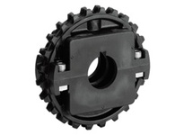 614-181-1 NS1500-32T Thermoplastic Split Sprocket With Keyway And Setscrew TEETH: 32 BORE: 1 Inch Round