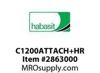 """Habasit C1200ATTACH+HR 1200 2"""" Pitch Half Round Link Acetal"""