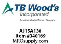 TBWOODS AJ15A138 AJ15X1 3/8 STD FF COUP HUB