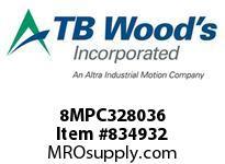 TBWOODS 8MPC328036 8MPC-3280-36 QTPCII BELT