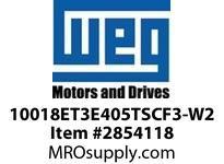 WEG 10018ET3E405TSCF3-W2 100HP 1800 3 60 208-230/460 TEFC-NEMA Pr