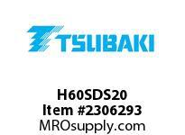 US Tsubaki H60SDS20 HT Cross Reference H60SDS20 QD SPROCKET HT