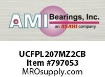 AMI UCFPL207MZ2CB 35MM ZINC WIDE SET SCREW BLACK 4-BO COV SINGLE ROW BALL BEARING