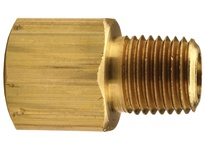"DIXON 3750404C 1/4"" Male NPTF x 1/4"" Female NPTF Brass Threaded Adapter"
