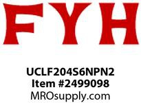 FYH UCLF204S6NPN2 20MM STL INSERT LF NP HOUSE W/N2 FITTING