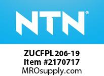 NTN ZUCFPL206-19 Mounted Units (Plastic)