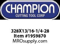 Champion 328X13/16-1/4-28 HS ROUND SCREW ADJ DIES