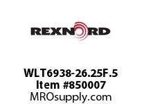 REXNORD WLT6938-26.25F.5 WLT6938-26.25 F.5 T8P N1 WLT6938 26.5 INCH WIDE MATTOP CHAIN