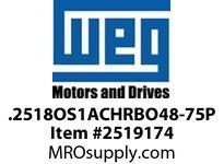 WEG .2518OS1ACHRBO48-75P 1/4HP 1800 1/60/115V 75PP AUTO Nema 56 ODP