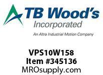 TBWOODS VPS10W158 VPS-10WX1 5/8 ADJ SHEAVE