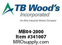 TBWOODS MB04-2000 MICRO HUB SIZE 04 RB