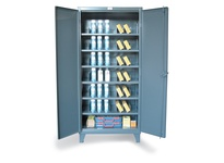 StrongHold 46-246PH-42VD Metal Bin Storage Cabinet with Vertical Dividers 48x24x72 6 Shelves