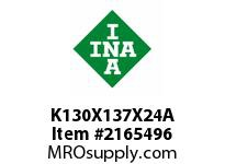 INA K130X137X24A Needle roller cage assembly