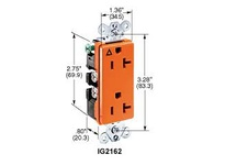 HBL-WDK IG2152 STYLE DUP RCPT IG 15A 125V 5-15R OR