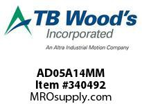 TBWOODS AD05A14MM AD05-AX14MM FF COUP HUB