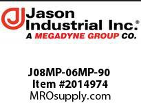 Jason J08MP-06MP-90 ADAPTOR 90* EL M NPT x M NPT