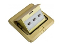 Orbit FLBPU-L-S-C-BR FLOOR BOX SQUARE POP-UP COVER ONLY W/LOW VOLTAGE(RJ45)BRASS