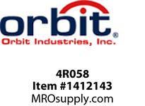 Orbit 4R058 4^ OCT. BOX STEEL COVER 5/8^ RAISED OPEN
