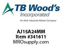 TBWOODS AJ15A24MM AJ15-AX24MM FF COUP HUB