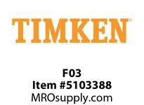 TIMKEN F03 Split CRB Housed Unit Component