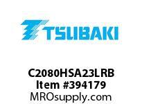 US Tsubaki C2080HSA23LRB C2080H RIV 3L/SA-2