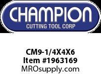 Champion CM9-1/4X4X6 SDS PLUS ROTARY HAMMER BITS