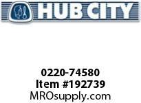 HUBCITY 0220-74580 101M 1/1 D SP BEVEL GEAR DRIVE