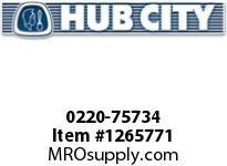 HubCity 0220-75734 SS185 15/1 A WR 56C .938