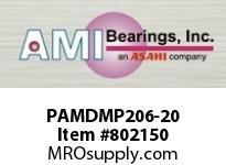 AMI PAMDMP206-20 1-1/4 POLY-ACETAL DOUBLE ROW STAINL SINGLE ROW BALL BEARING