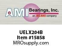 AMI UELX204B 20MM WIDE ACCU-LOC BLACK 2-BOLT FLA