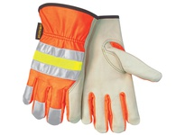 MCR 32111M Luminator Hi-Vis Grain Cow Orange Reflective Fabric Back