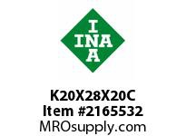 INA K20X28X20C Needle roller cage assembly