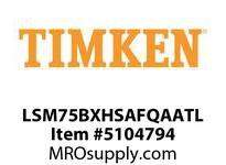 TIMKEN LSM75BXHSAFQAATL Split CRB Housed Unit Assembly