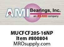 AMI MUCFCF205-16NP 1 STAINLESS SET SCREW NICKEL PILOTE SINGLE ROW BALL BEARING