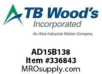 TBWOODS AD15B138 AD15-BX1 3/8 FF COUP HUB