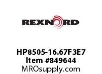 REXNORD HP8505-16.67F3E7 HP8505-16.66 F3 T7P HP8505 16.67 INCH WIDE MATTOP CHAIN