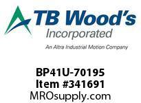 TBWOODS BP41U-70195 BP41UX70MMX2.500 F-FLEX CPLG
