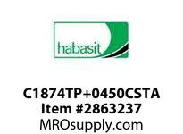 """Habasit C1874TP+0450CSTA 1874 Tab 4.5"""" Top Plate Carbon Steel"""