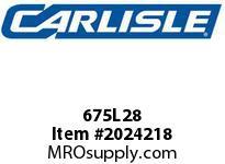 Carlisle 675L28 Poly Rib Belts-