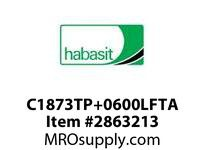 "Habasit C1873TP+0600LFTA 1873 Tab 6"" Top Plate Low Friction Acetal"