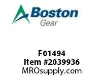 Boston Gear F01494 SF842BRF-8K-B7-H SPEED REDUCER