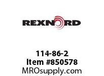 REXNORD 114-86-2 SS815-21T 1 KWSS SS815-21T STAINLESS STEEL SPROCKET