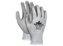 MCR 92743PUS Memphis Cut Pro 13 gauge Silver/Gray HPPE/Synthetic Shell PU Coated Palm/Fingertips