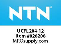 NTN UCFL204-12 Oval flanged bearing unit
