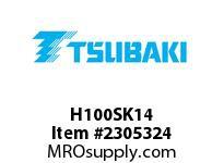US Tsubaki H100SK14 HT Cross Reference H100SK14 QD SPROCKET HT