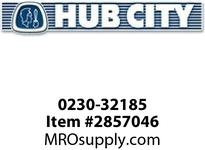 HUB CITY 0230-32185 3804 200/1 WR 143TC DOUBLE OUTPUT Worm Gear Drive
