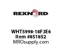 REXNORD WHT5998-18F3E6 WHT5998-18 F3 T6P WHT5998 18 INCH WIDE MATTOP CHAIN W