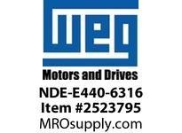 WEG NDE-E440-6316 NDE ENDSHIELD TEFC PREM EFF 63 Motores