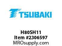 US Tsubaki H80SH11 HT Cross Reference H80SH11 QD SPROCKET HT